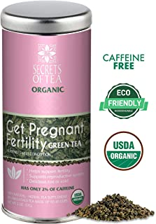 Secrets of Tea-Get Pregnant Fertility Tea -USDA Organic- Delicious Hot or Cold- Improves Hormone Balance and Cycle Regulation - Support Fertility Naturally- 40 Servings (Green Tea)