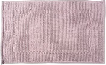 DII 100% Cotton Jaquard Luxury Hotel & Spa Banded Bath Mat for Bathroom, Tub, and Shower, 20x31 - Bordered Mauve