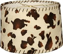 Royal Designs HB-623-14 Shallow Drum Lamp Shade, 13 x 14 x 9, Cowhide
