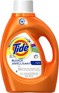 Tide Plus Bleach Alternative Safe on Colors HE Turbo Clean Liquid Laundry Detergent, Original Scent, 2.72 L (48 Loads)