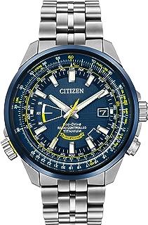 Citizen Eco-Drive Blue and Yellow Dial Titanium Quartz Men's Watch CB0147-59L