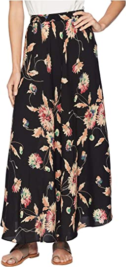 Printed Rayon Stripe Skirt