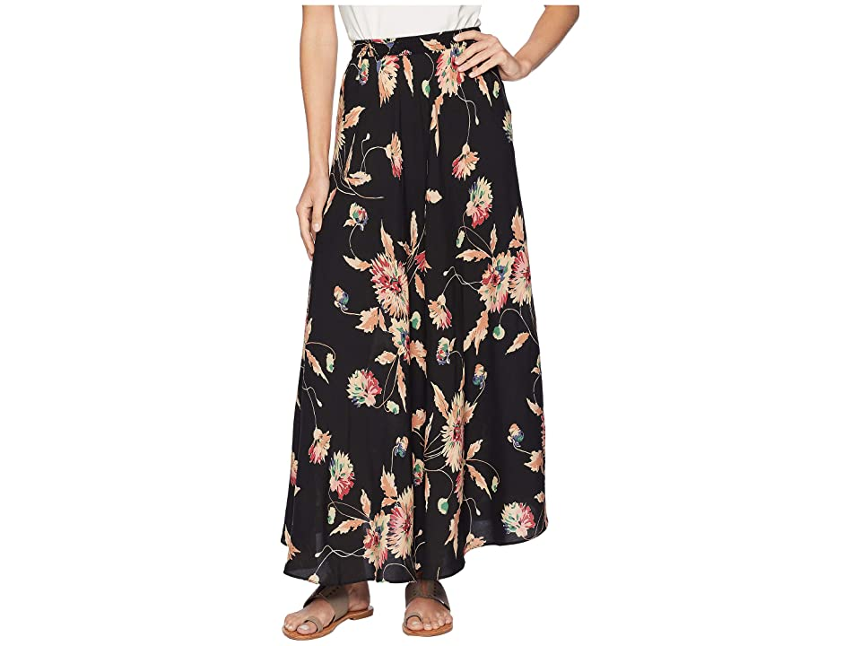 CHAPS Printed Rayon Stripe Skirt (Black Multi) Women