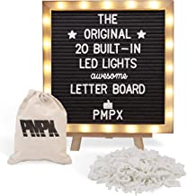 تخته سیاه فلت با پایه ، چراغهای داخلی داخلی (10 10 10) - صفحه منو ، قاب چوب ، 340 نامه و ایموجی ها - برای پیام های علامت گذاری سفارشی ، منوها ، اعلام حاملگی ، عروسی ها ، برنامه ریزی مهمانی