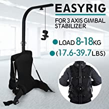 VEVOR Easy Rig Stabilizer Vest Professional Camera Video Film Support System for 3 Axis Stabilized Handheld Gimbal Backpack Body Pod Steadycam Stabilizer 8kg - 18kg / 17.6lb - 39.7lb Load Capacity