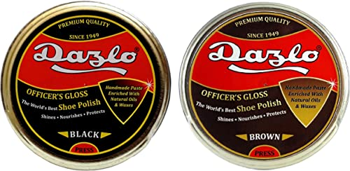 Dazlo Handmade Shoe Polish - Black (40g) + Brown (40g)