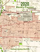 2020 Weekly Planner: Southeast Columbus, Ohio (1955): Vintage Topo Map Cover