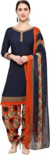 Rajnandini Navy Blue Crepe Salwar Suit For Women (Ready To Wear)(One Size)