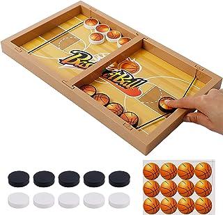 DR.DUDU Fast Sling Puck Game, Plastic Basketball Table Hockey Game Slingshot Toy Winner Board Game Parent-Child Interactiv...