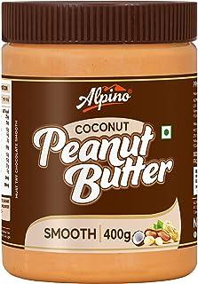 Alpino Coconut Peanut Butter Smooth 400 G (India's 1st Coconut Peanut Butter / Gluten Free / Non-GMO / Vegan)