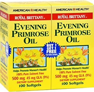 American Health Dietary Supplements, Royal Brittany Evening Primrose Oil, 200 Count.