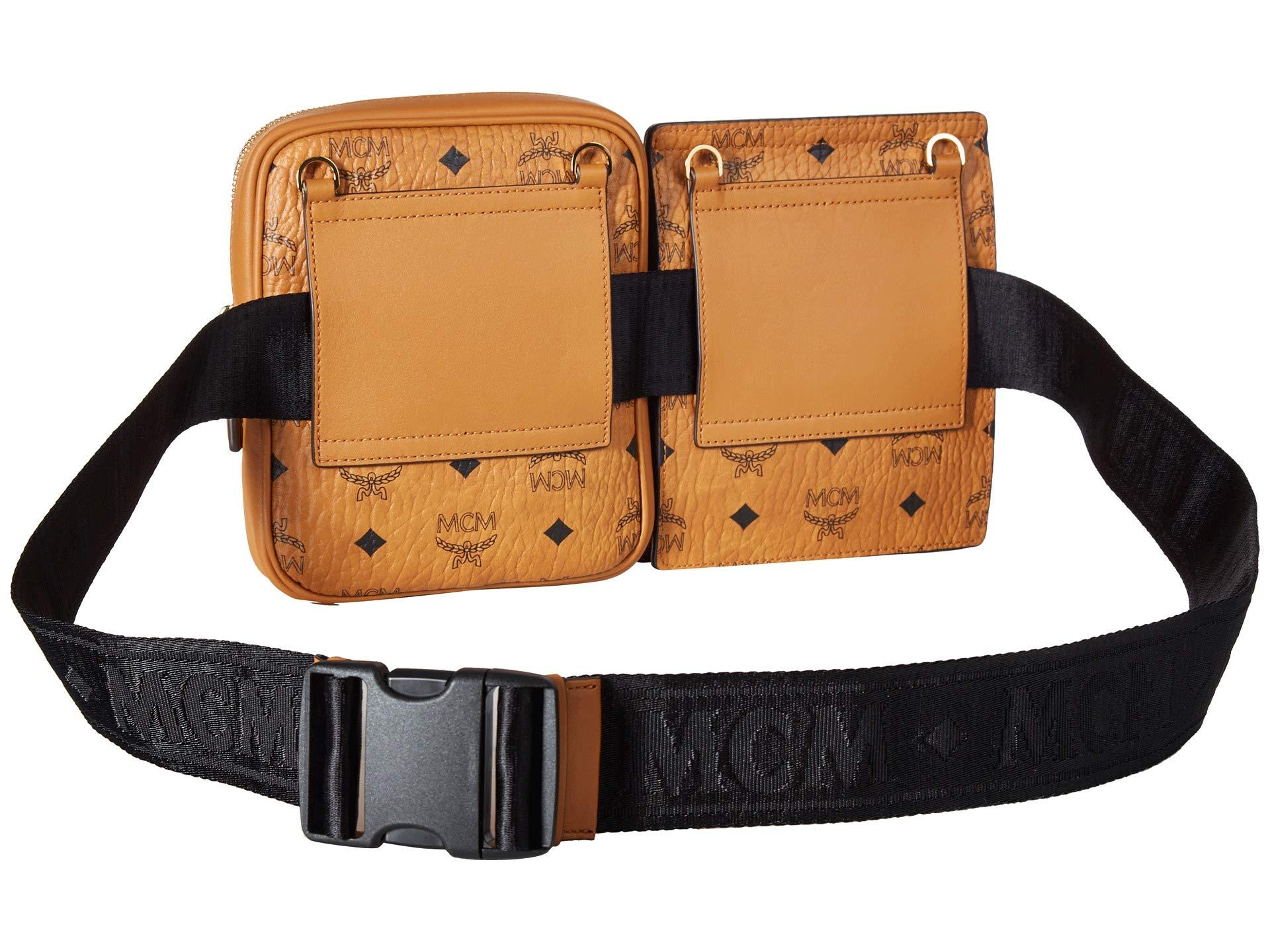 fda600039c9f MCM MCM Stark Double Logo Belt Bag at Luxury.Zappos.com