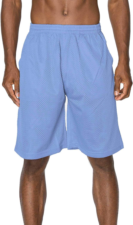 Mens Plain Mesh Shorts