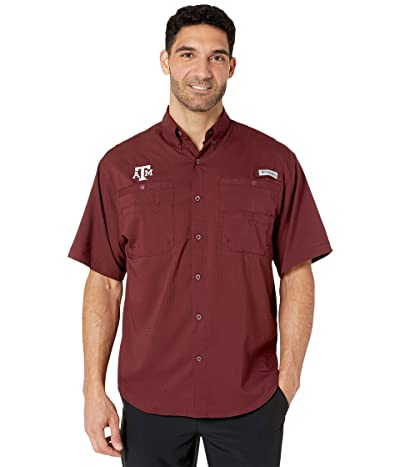 Columbia College Texas AM Aggies Collegiate Tamiamitm II Short Sleeve Shirt (Maroon) Men
