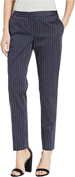 Menswear Stripe Slim Ankle Pants