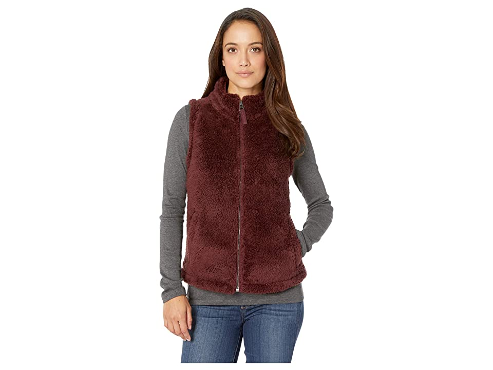 Dylan by True Grit Plush Polar Fleece Shelly Vest (Vintage Wine) Women