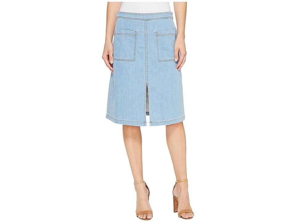 Splendid Indigo Patch Pocket Skirt (Light Wash) Women