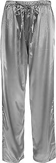 Leisureland Women's Stretch Satin Pajama Bottoms Sleepwear