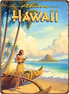 Pacifica Island Art 12in x 16in Vintage Hawaiian Tin Sign - Aloha Hawaii by Kerne Erickson