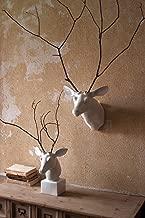 Kalalou Wall Mount White Ceramic Mounted Deer Head