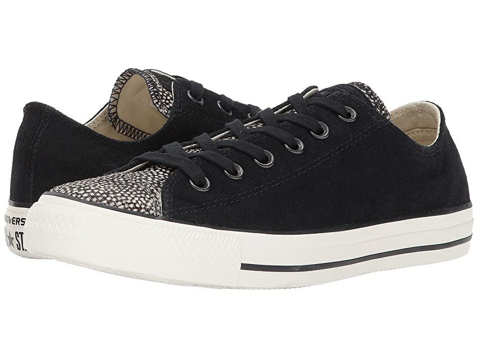 Converse Chuck Taylor All Star Ox Classic (Black/Black/Egret) Lace up casual Shoes