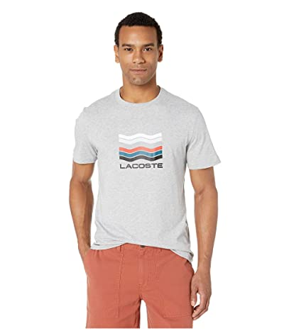 Lacoste Short Sleeve Jersey Graphic T-Shirt (Silver Chine) Men