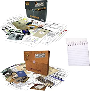 University Games Murder Mystery Party Case Files: Underwood Cellars Bundle with Fire in Adlerstein Mystery Detective Case ...