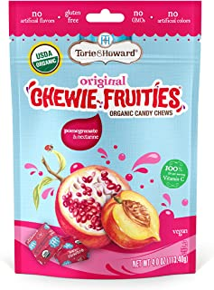Torie & Howard Chewie Fruities Organic Candy Pomegranate & Nectarine, 4 Ounce Bag