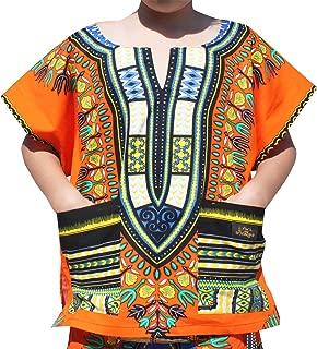 Childrens African Dashiki Short Sleeve Shirt Colours