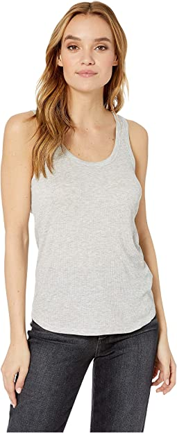 Soft Touch Ribbed Scoop Tank Top