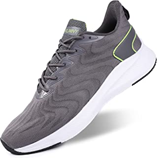 Mens Walking Running Shoes - Lightweight Breathable Mesh Athletic Casual Tennis Sneakers