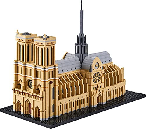 wholesale DAFDAG sale Big Architecture Model Kits Notre Dame Micro Blocks 7380 Pieces Paris Model Building Kit, Creative Building Set for Adults, Gift high quality for Kids( with Color Gift Package) outlet sale