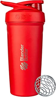BlenderBottle Strada Shaker Cup Insulated Stainless Steel Water Bottle with Wire Whisk,..