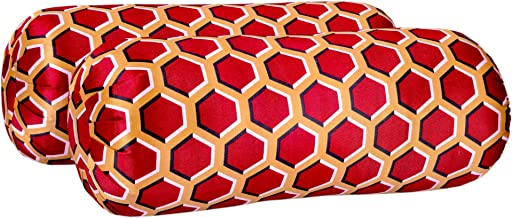 Bolster Pillow Color Multi Color Size 22 x 7 Inches Pack of 2 II Cotton Filled, Lite Weight Durable Bolster Compliment for Deewan and Sofa II Floral Pattern Design no Need of Cover.