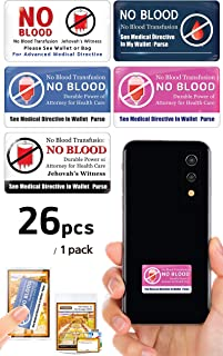 Vongsado -26pcs- No Blood Transfusion Premium 3D Stickers - Accessories of Cell Phone, Ministry Supplies - for JW Gifts, J...