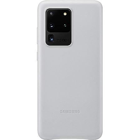 Samsung Leather Smartphone Cover Ef Vg988 Für Galaxy S20 Ultra Handy Hülle Echtes Leder Schutz Case Stoßfest Premium Hellgrau Elektronik