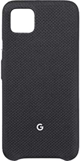 Google Pixel Case for Pixel 4 XL - Protective Phone Cover with Tailored Fabric and Active Edge Compatible - Official Google Pixel Cover (Just Black)