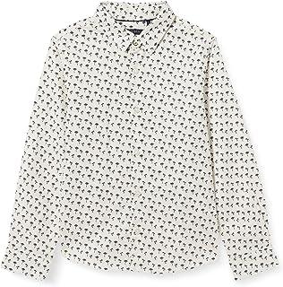 IKKS Chemise Écrue Imprimée Palmiers Navy Camisa de Vestir para Niñas