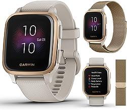بسته موسیقی گروه Extra Style Garmin Venu Sq Music (ماسه سبک / گل رز)   2020   با Bandane Metal Watch Band (Vintage Gold) توسط PlayBetter   Bright Screen، Wrist HR، Spotify   ساعت هوشمند GPS تناسب اندام