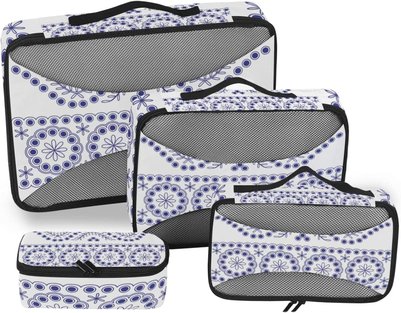 Luxury Floral Pattern Packing Cubes Animer and price revision 4-Pcs Accessories Organizer Travel