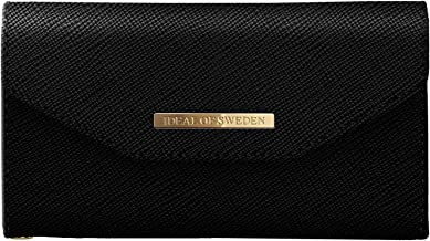 iDeal Of Sweden Mayfair Clutch Wallet in Black Design for iPhone 8/7/6/6s Plus - Detachable Strap & Magnetic Phone Case w/ Card Slots
