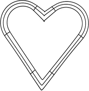 FloraCraft Heart Wire Wreath Form 16 Inch Green