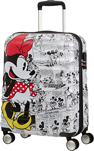 American Tourister Wavebreaker Disney - Comics - Spinner S Bagage Enfant, 55 cm, 36 L, Multicolore (Minnie Comics White)