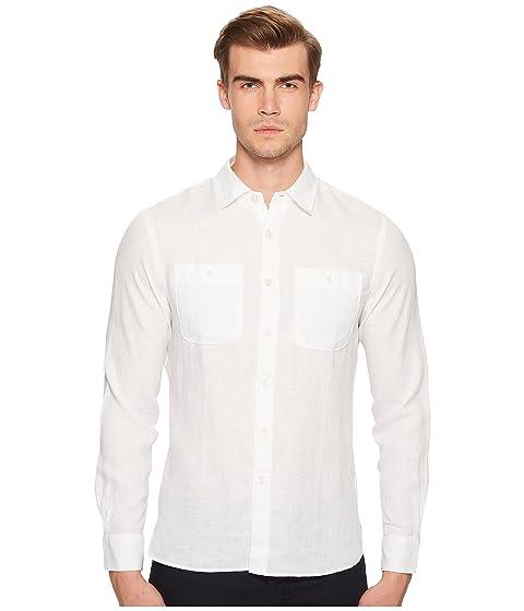 TODD SNYDER Linen Two-Pocket Shirt, White