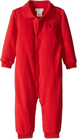 Ralph Lauren Baby Interlock Solid Coveralls (Infant)