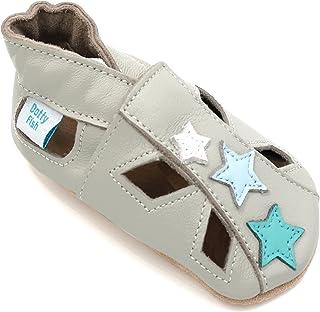 45e7fc4b09edd Dotty Fish Chaussures Cuir Souple bébé. Garçons et Filles Sandales. 0-6 Mois
