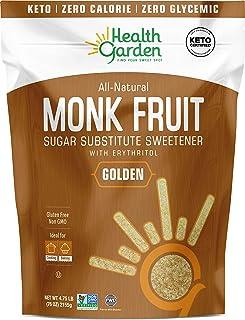 Sponsored Ad - Health Garden Monk Fruit Sweetener, Golden- Non GMO - Gluten Free - 1:1 Sugar Substitute - Kosher - Keto Fr...