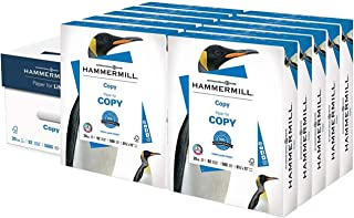 Hammermill 20lb Copy Paper, 8.5 x 11, 10 Ream Case, 5000 Sheets, Made in USA, Sustainably Sourced From American Family Tree Farms, 92 Bright, Acid Free, Economical Multipurpose Printer Paper, 150010C