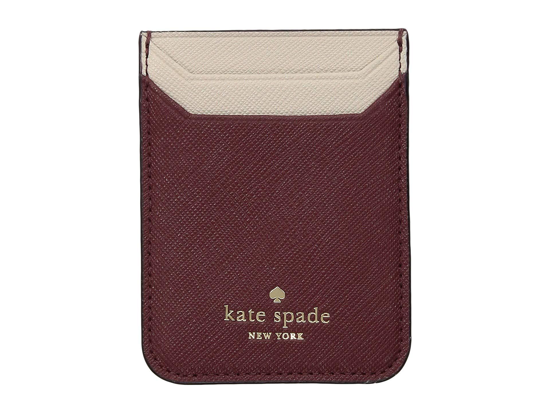 Spade Triple Kate Sienna Sticker York New tusk Pocket vtzgzqdxw