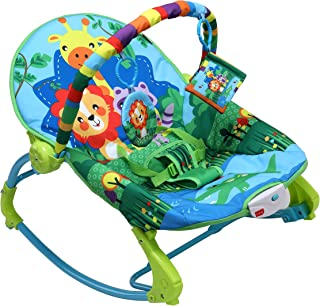 LuvLap Jungle Tales Newborn to Toddler Portable Rocker Cum Bouncer